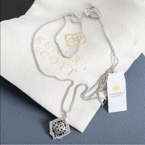Kendra Scott Kacey Silver Necklace Silver Filigree